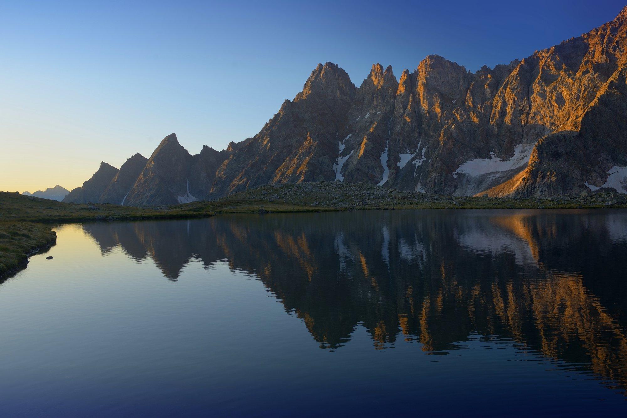 горы озеро рассвет кавказ хаджибей, Александр Жарников