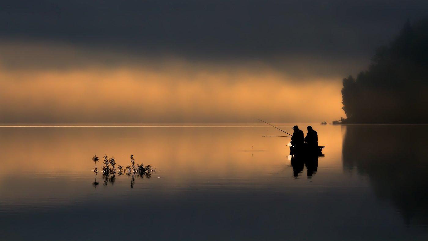 landscape,canon,mist,light,autumn,fog,lake, Iza i Darek Mitręga