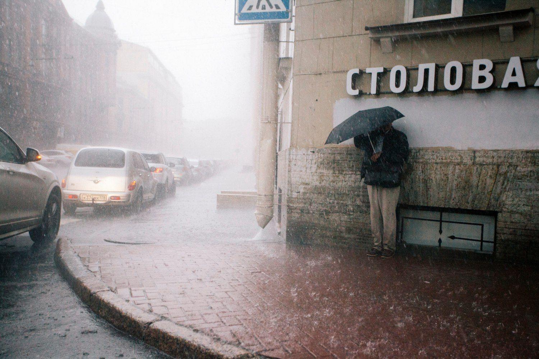 дождь, rain, петербург, зонт, Николай Щеголев