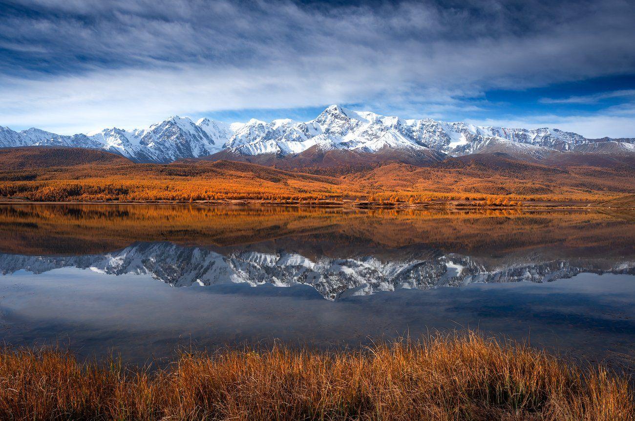 алтай, пейзаж, озеро, горы, осень, Станислав Казнов
