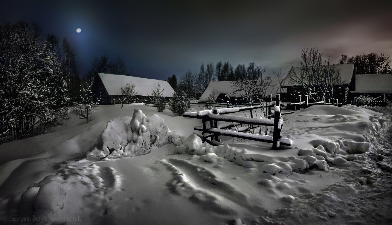 belarus, вечер, деревня, дом, луна, пейзаж, пригород, россия, minsk, сельский, местечко, Serg-N- Melnik-oy