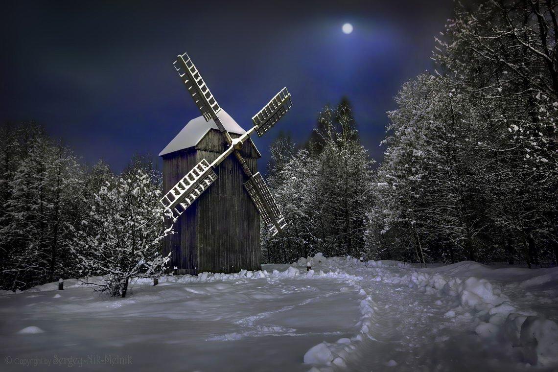 belarus, вечер, деревня, дом, луна, пейзаж, пригород, россия, minsk, сельский, местечко, мельница, Serg-N- Melnik-oy