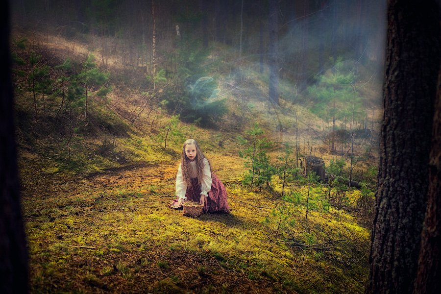 девочка, сказка, лес, колдовство, туман, загадка, чаща, поляна, dyadyavasya, Дмитрий dyadyavasya  Шамин
