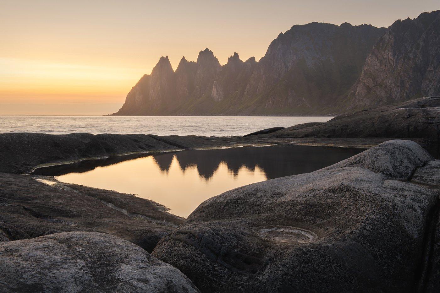 Норвегия, Сенья, зубы дракона, приливные ванны, Скандинавские горы, Арсений Кашкаров