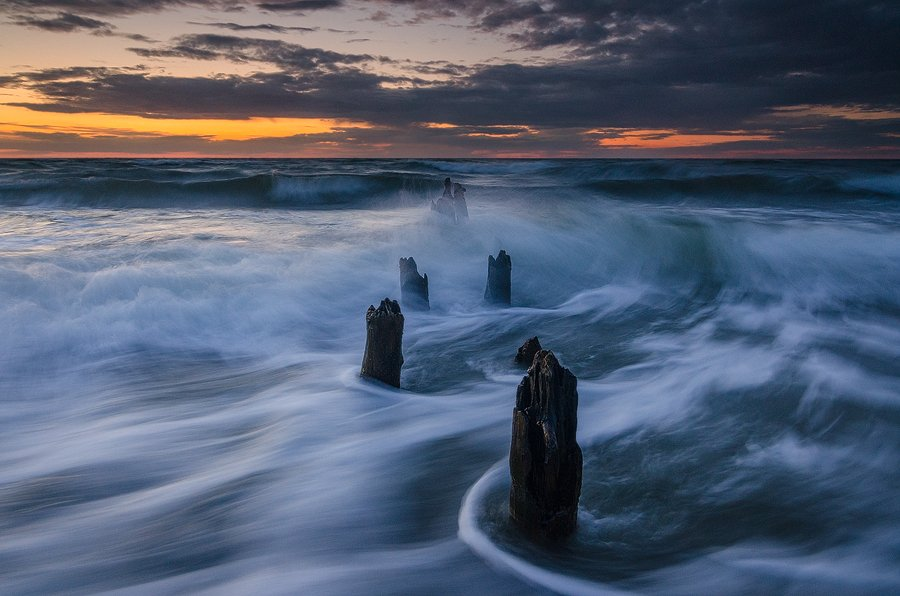 балтика, море, вечер, пейзаж, Дмитрий Бойко
