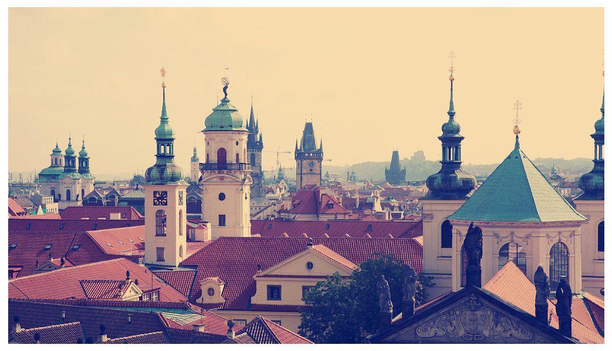 prague, praha, castle, roofs, Anton Akhmatov