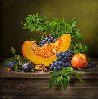 С тыквой и виноградом