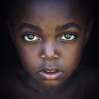 В глазах девочки