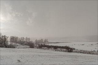 Солнце закрывает снежной тучей