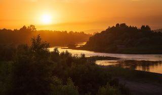 Вечер на реке Мрас-Су. Кемеровская обл.