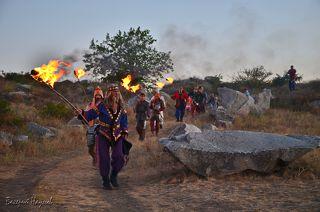 Шествие для возжигания огня в центральном алтаре
