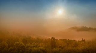 Туман с облаками создали таинственное настроение!
