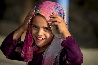 Девочка на горе Раббани