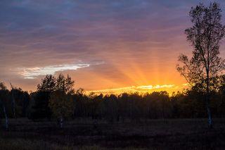 03 А перед самым закатом солнце даже примерило на себя золотую лучистую корону...