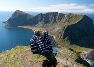 Матвей и Федор. Седьмое и заключительное восхождение в этом сезоне в Норвегии. Наверно самое простое. Мои сыновья.