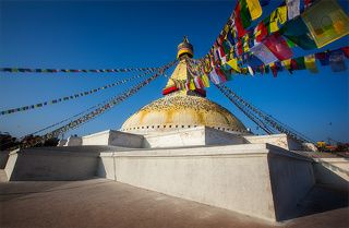 Ступа Боднатх основной храмовый центр тибетского буддизма в Непале