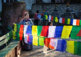 Буддийские молитвенные флаги, неотъемлемая часть культуры Непала