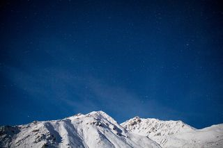 Ночные горы.