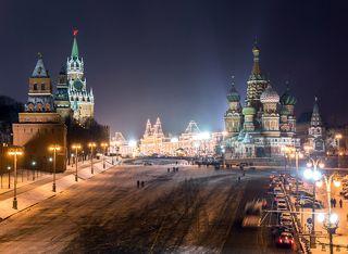 Рождественская Красная Площадь