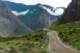 Дорога в Чулышманскую долину...