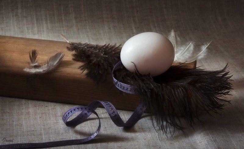 Яйцо перья брусок деревянный лен к извечному вопросу о Первенстве!photo preview