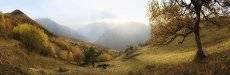 Панорама осеннего Архыза