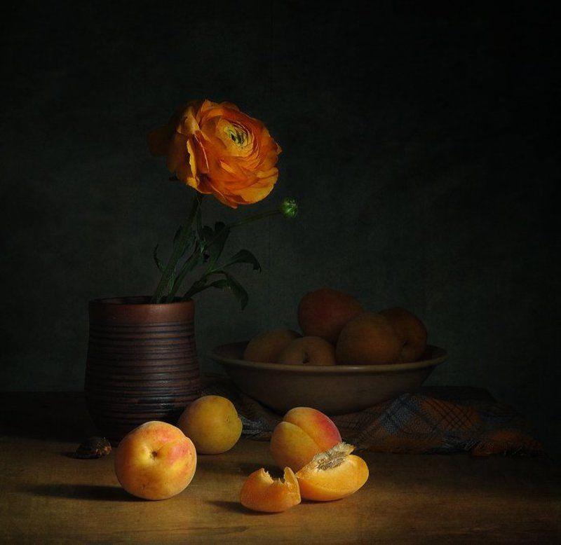 Абрикосы, Натюрморт, Оранжевый Оранжевыйphoto preview