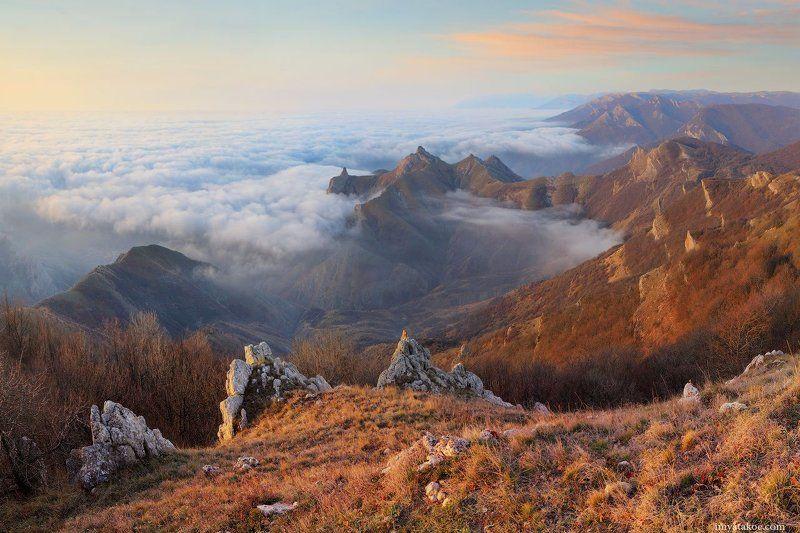 Горы, Крым, Рассвет, Фото Псарёва Михаила Утро в горахphoto preview