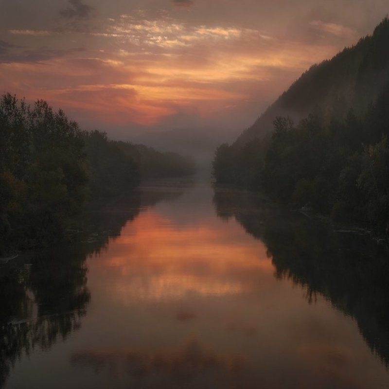 Рассвет над Северским Донцомphoto preview