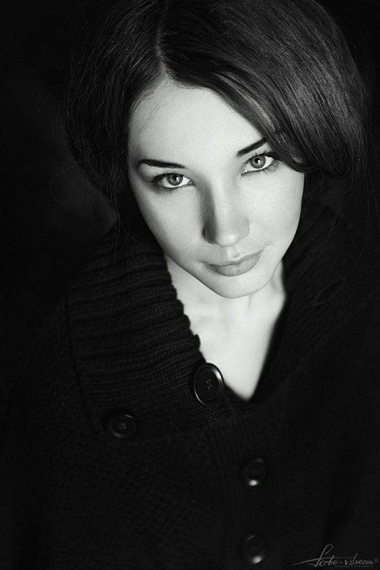 Foto-vdvoem, Взгляд, Взгляд девушки, Глаза, Глаза девушки, Портрет, Портрет девушки, Портретная съемка, Портретная фотосъемка, Фото вдвоем, Черно-белая фотография, Черно-белое, Черно-белое фото, Черно-белый портрет, Черно-белый портрет девушки Юлияphoto preview