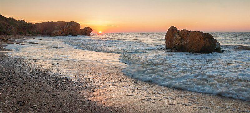 Море, Одесса, Рассвет, Черное море Рассветная Фонтанкаphoto preview