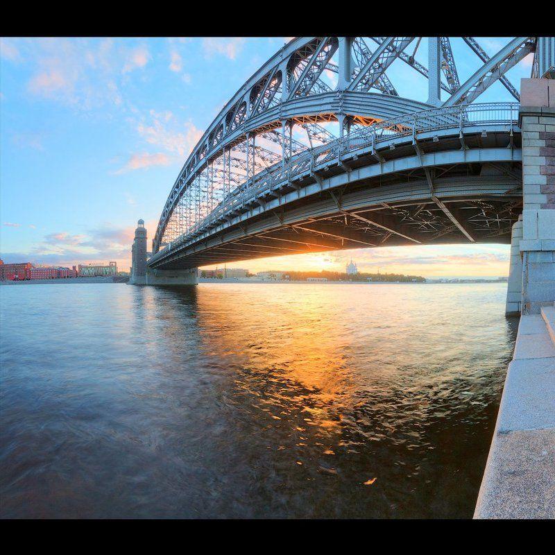 Вечер из жизни моста Петра Великогоphoto preview