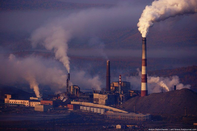 горы, карабаш, промышленность, южный урал Урал промышленныйphoto preview