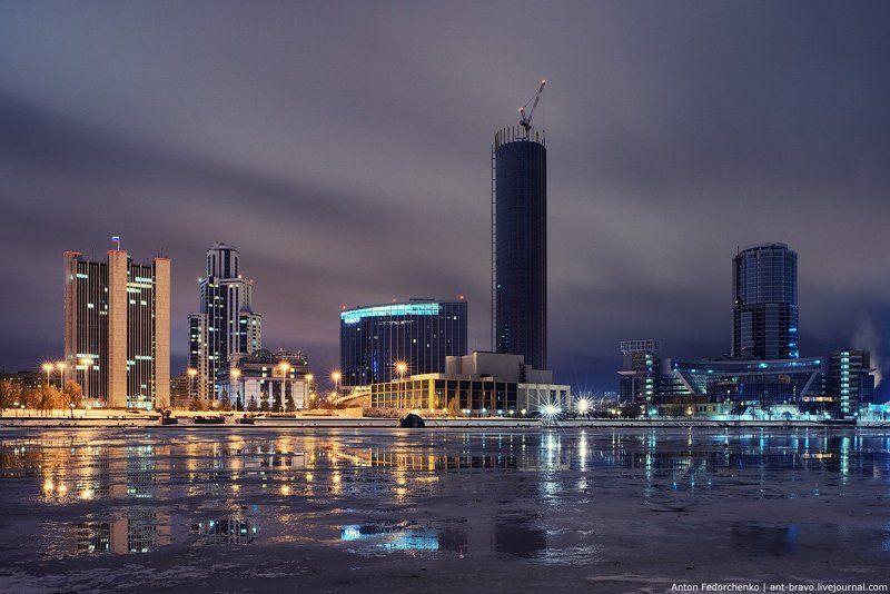 екатеринбург, небоскреб, пруд, сити Сити. Конец октябряphoto preview