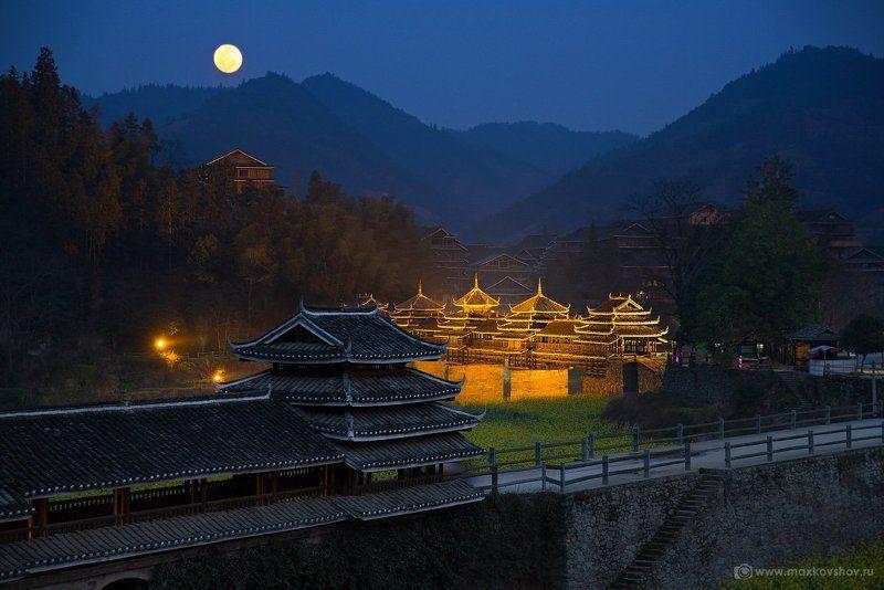 China, Китай День и ночь в деревне Maan.photo preview