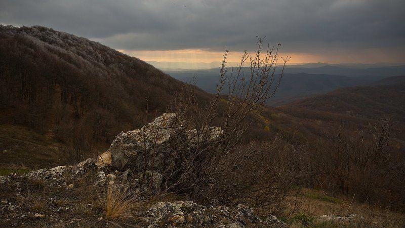 крым, осень, закат, горы *****photo preview