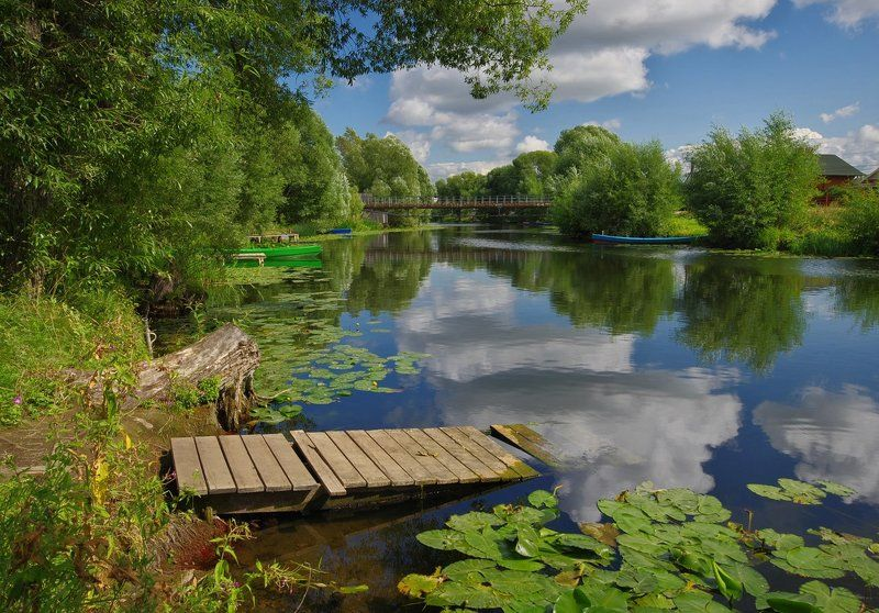 Река с облакамиphoto preview