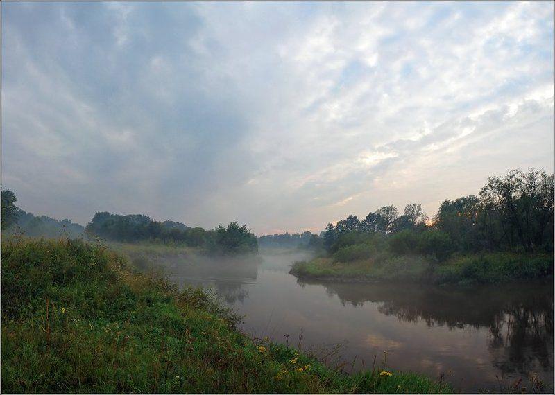 уторо, река, туман Ранним утром у рекиphoto preview