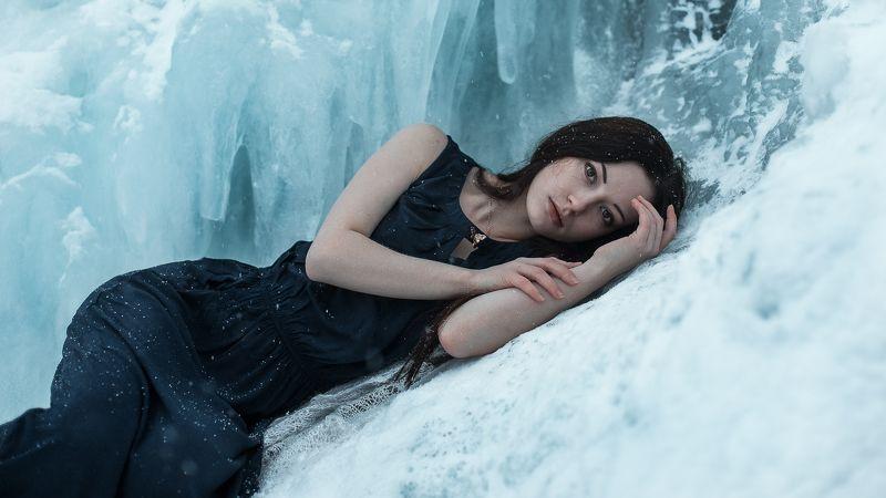 лед, девушка, платье, холодно, зима Snezhanaphoto preview