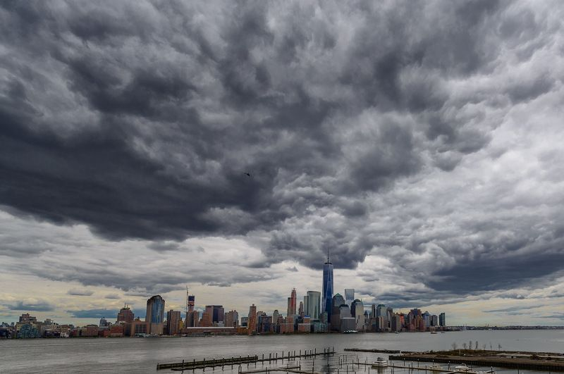 NYC, WTC, Manhattan, clouds, storm Song of steel, glass and cloudsphoto preview