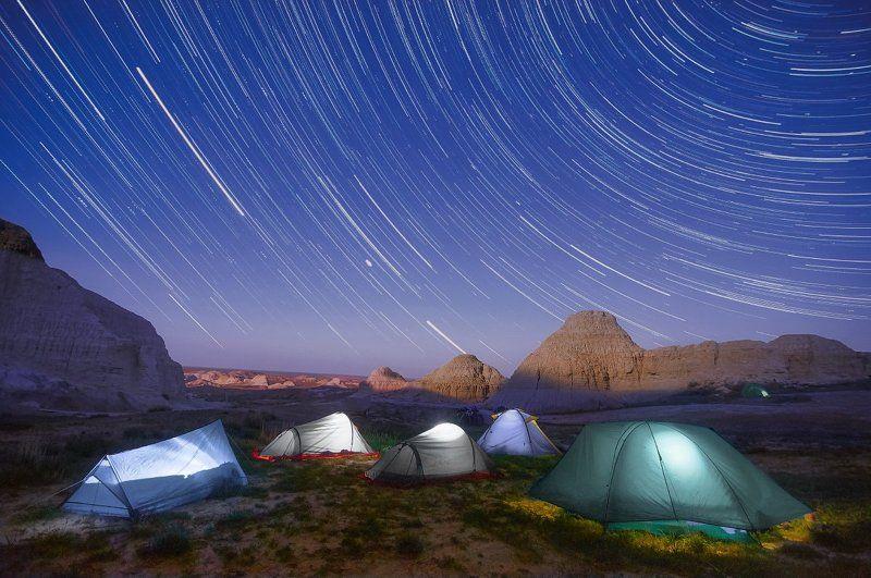 киин-кириш, казахстан, город духов, ночь, звезды, Киин-Кириш - «Город духов».photo preview
