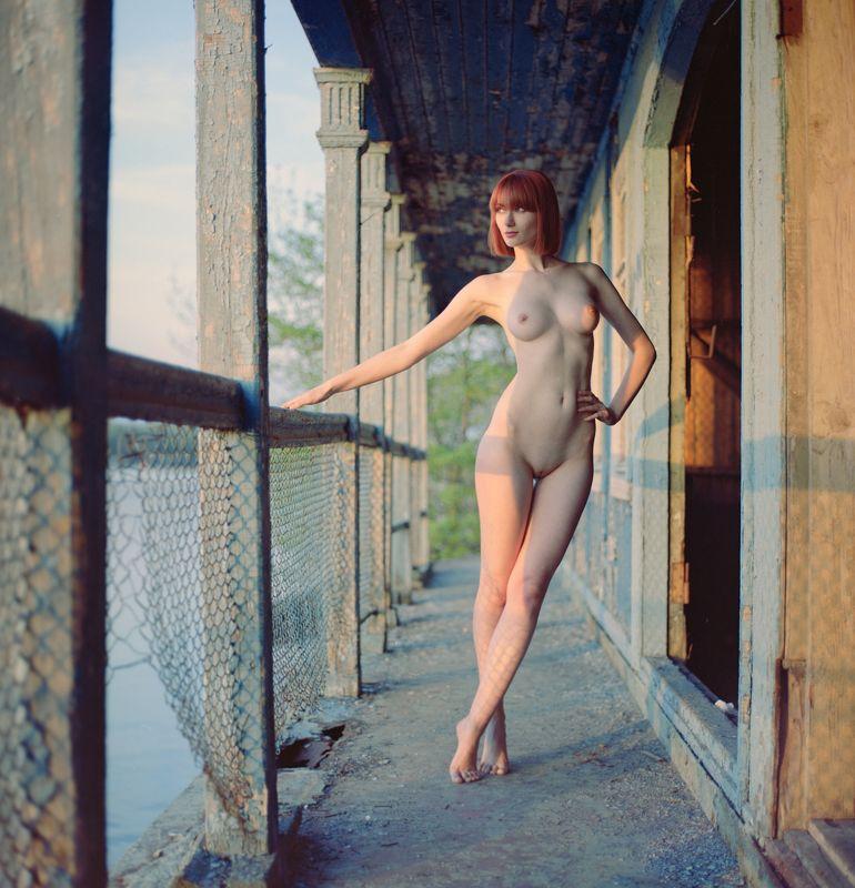 девушка , ню , пленка , portra , hasselblal , красота ,  На закатеphoto preview