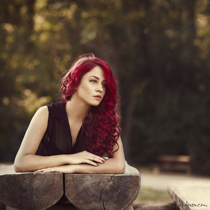 beauty, passion, portrait, red hair, woman ***photo preview