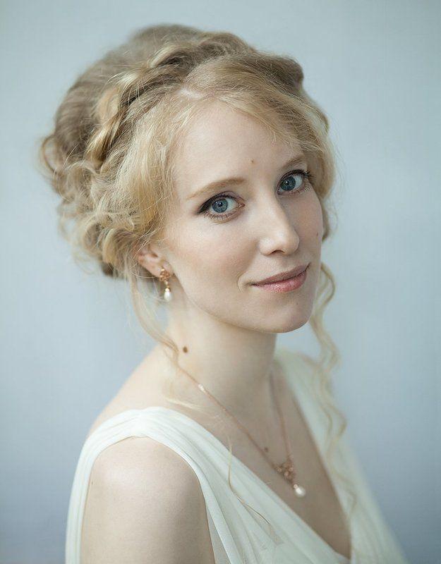 портрет, невеста, девушка, нежность, улыбка photo preview