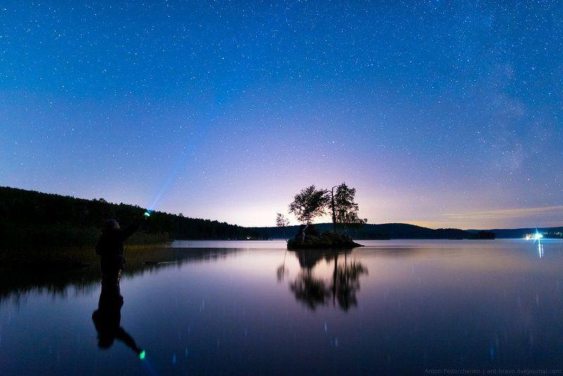 звезды, ночной пейзаж, таватуй Млечный Путь над Таватуемphoto preview