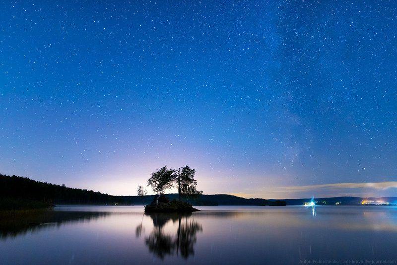 таватуй, озеро, звезды Млечный Путь над Таватуем IIphoto preview