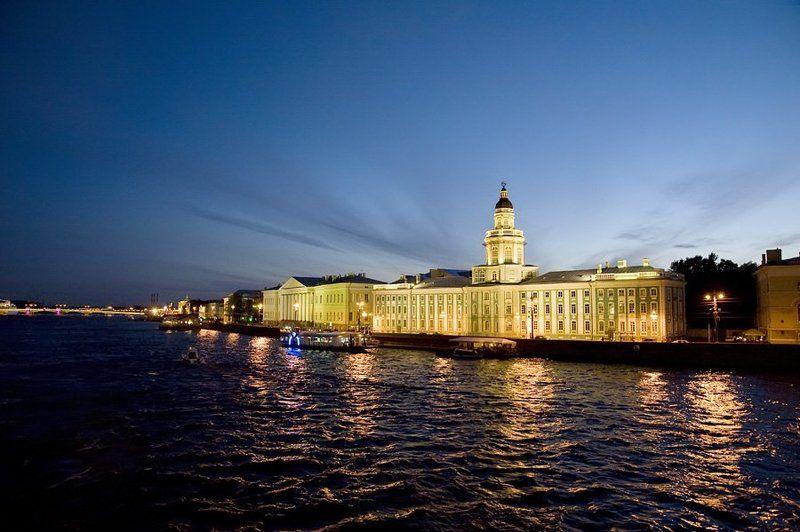 кунсткамера,город,небо Ночной Петербургphoto preview