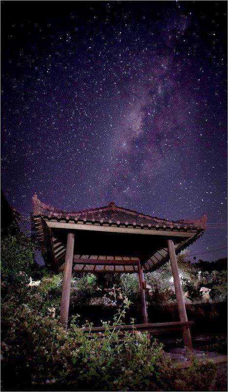 Bali, Bunutan, Indonesia, Milky way, Бали, Индонезия Есть звезды в балийских деревнях!photo preview