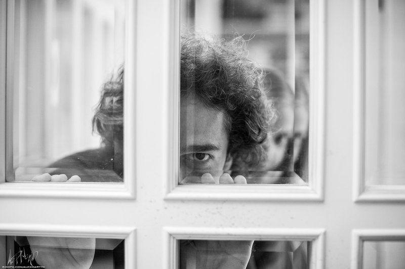 Взгляд, Витраж, Настроение, Подсматривать, Портрет Прамудаphoto preview
