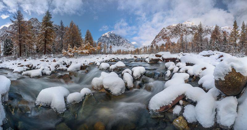 Актру, Алтай, Вода, Камни, Река, Россия, Снег Река Актру (Алтай)photo preview